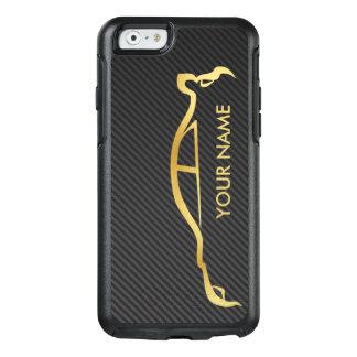 Custom Subaru WRX Impreza Gold Silhouette OtterBox iPhone 6/6s Case