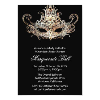 Custom Sweet Sixteen Masquerade Ball Invitations