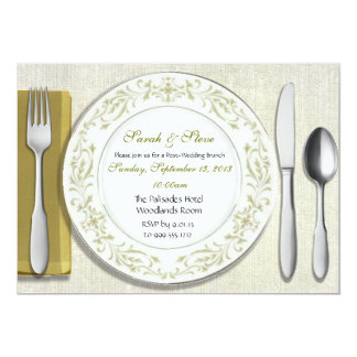 Custom Table Setting Post Wedding Brunch Invites