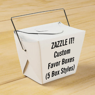 Custom TAKE OUT Favor Boxes with Handle Blank Wedding Favour Boxes