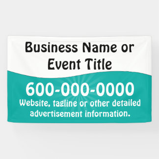 Custom Teal Turquoise White Business Advertising Banner