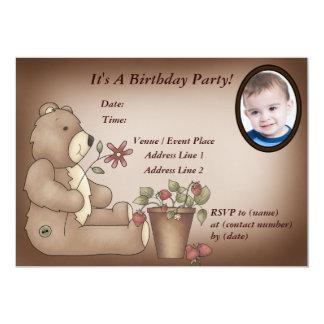 Custom Teddy Bear Birthday Party Invitation