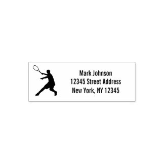 Custom tennis self inking rubber address stamp