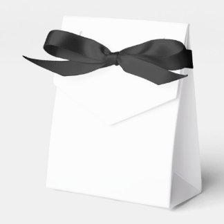 Custom Tent Favour Box (Black Ribbon)