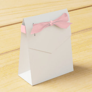 Custom Tent Favour Box (Pink Ribbon)