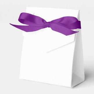 Custom Tent Favour Box (Purple Ribbon)