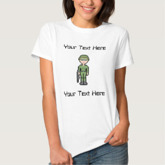Custom Text Female Soldier T-shirts