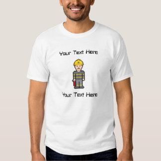 Custom Text Firefighter T-shirts