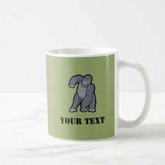 Custom Text Gorilla Basic White Mug