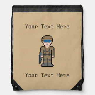 Custom Text Tan Soldier Rucksacks