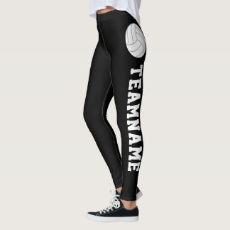 CUSTOM Text Volleyball Compression Pants Leggings
