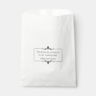 Custom Thank You Message Personalized Wedding Favour Bags