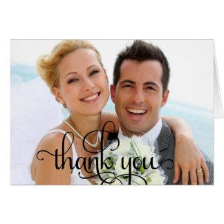 Custom Thank You Wedding Script Modern Card
