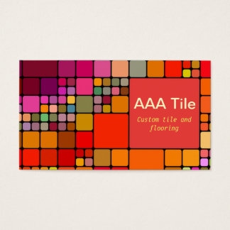 Custom Tile and Flooring Retro Mosaic Pattern Business Card