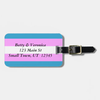 Custom Trans Flag Bag Tag