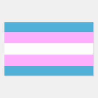 Custom Trans Flag Rectangular Sticker