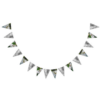 Custom Triangle Wedding Bunting Banner