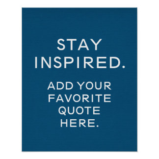 Custom Typography Poster, Inspirational Quote Poster