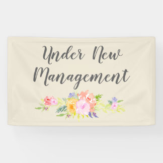 Custom Under New Management Business Banner