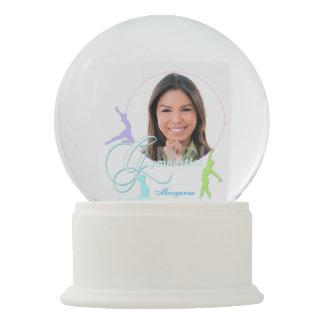 Custom Unique Pastel Gymnastics Snow Globe