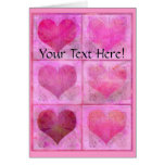 Custom Valentine Hearts Quilt Greeting Card
