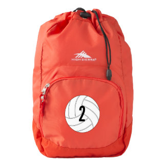 Custom Volleyball Player Jersey Number Backpack