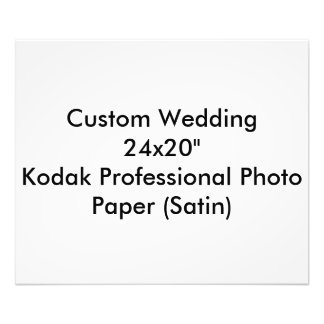 "Custom Wedding 24x20""  Kodak Pro Photo Paper Satin"