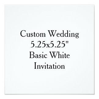 """Custom Wedding 5.25x5.25""""  Basic White Invitation"""
