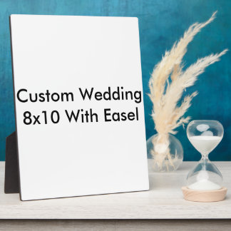 Custom Wedding 8x10 With Easel Photo Plaques