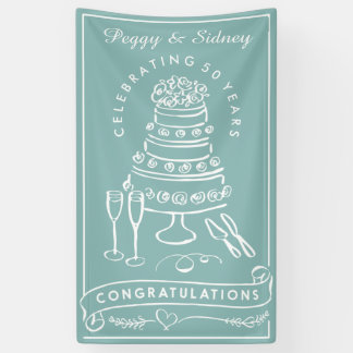 Custom Wedding Anniversary Congratulations Banner
