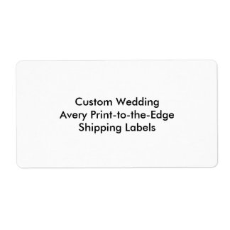 Custom Wedding Bachelorette Party Label Shipping Label