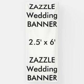 Custom Wedding Banner 2.5' x 6'