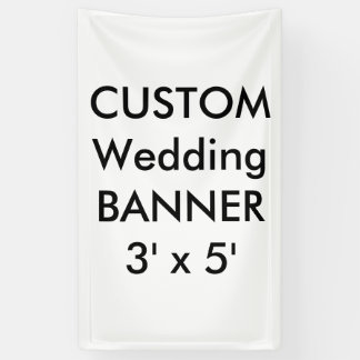 Custom Wedding Banner 3' x 5'