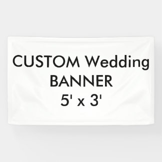 Custom Wedding Banner 5' x 3'