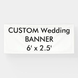 Custom Wedding Banner 6' x 2.5'