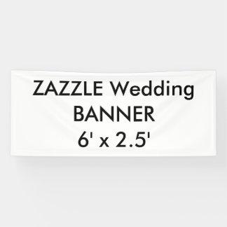 Custom Wedding Banner 6' x 2.5'