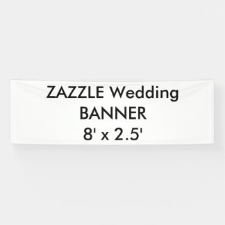 Custom Wedding Banner 8' x 2.5'