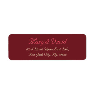 Custom Wedding Bride & Groom Return Address Label