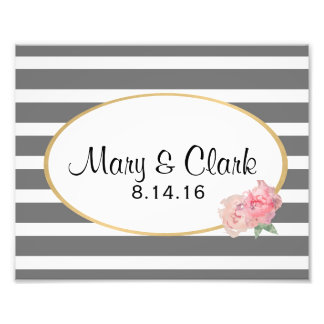 Custom Wedding Decor, Couples Names & Date Photo Print