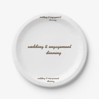 custom wedding & engagement paper plate 7 inch paper plate