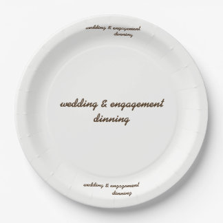 custom wedding & engagement paper plate 9 inch paper plate