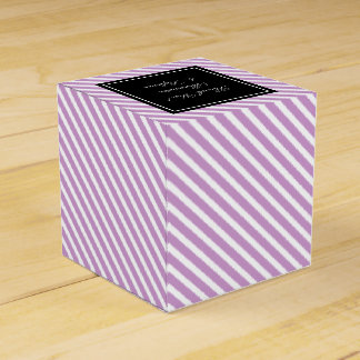 Custom wedding favor boxes | lavender stripes wedding favour boxes