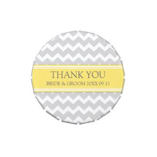 Custom Wedding Favor Candy Tin Grey Lemon