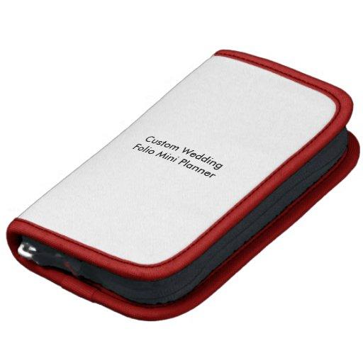 Custom Wedding Folio Mini Planner Red