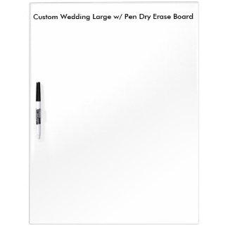 Custom Wedding Large w/ Pen Dry Erase Board