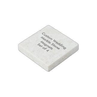 Custom Wedding Marble Stone Magnets Set of 4