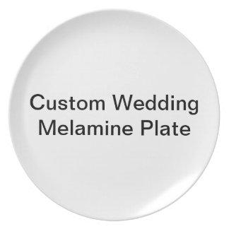Custom Wedding Melamine Plate