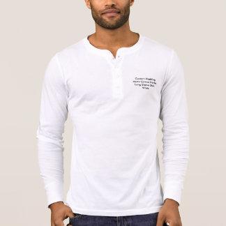 Custom Wedding Men Canvas Henley Long Sleeve Shirt