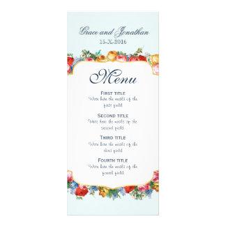 Custom Wedding Menu Card Rack Card