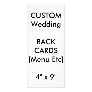 "Custom Wedding Menu & Program Cards 9""x4"" Vertical Full Color Rack Card"